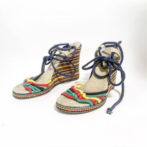 Gianni Bini. Espadrille wedges in primary colors